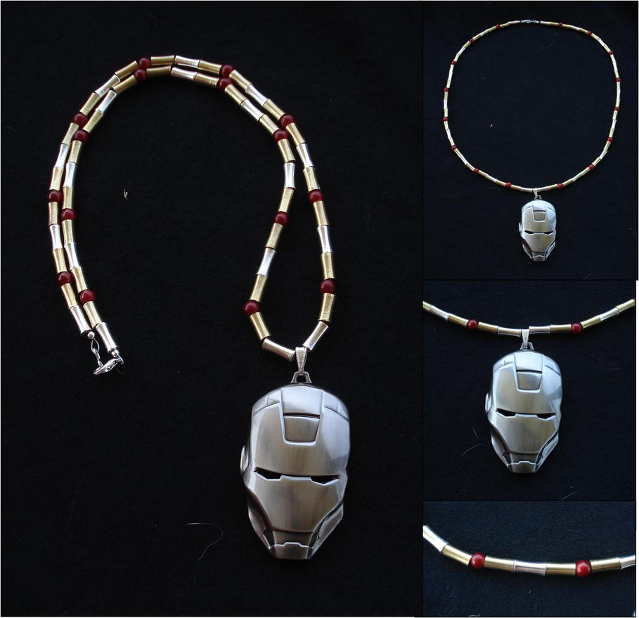 Iron Man Necklace - Commission by RebelATS
