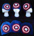 Captain America Crocheted Beanies by RebelATS