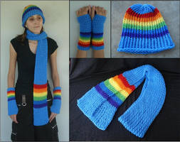 MLP Rainbow Dash Winter Pony Set by RebelATS
