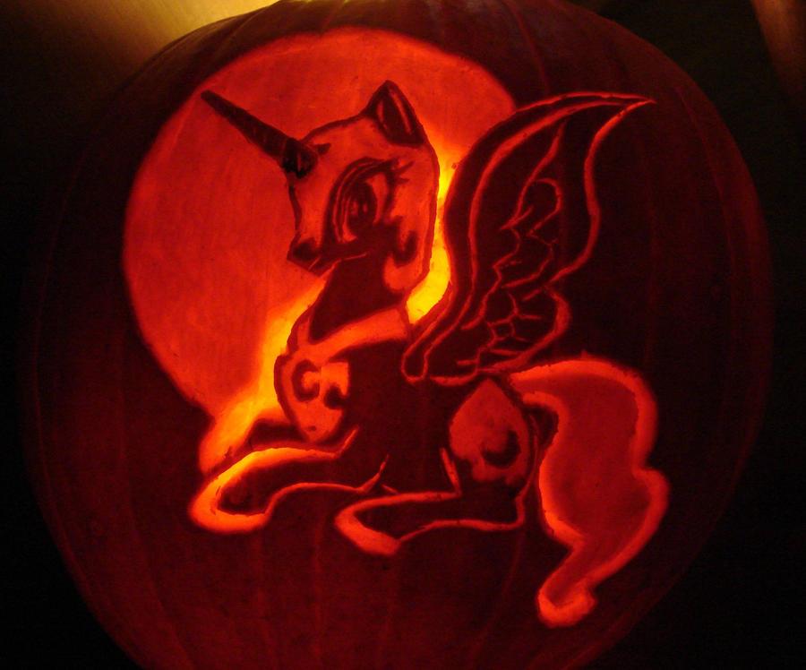 My Little Pony Nightmare Moon Pumpkin by RebelATS