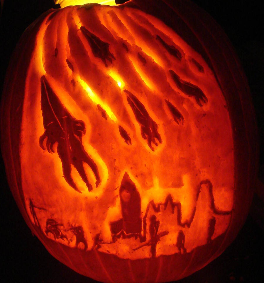 Mass Effect They Fell From The Heavens Pumpkin by RebelATS