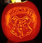 Harry Potter Hogwarts Crest Pumpkin