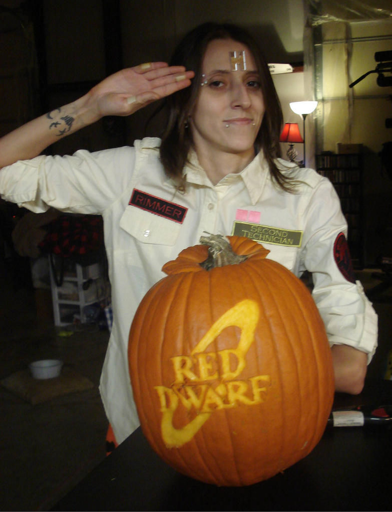 Red Dwarf Pumpkin and Arnold Rimmer by RebelATS