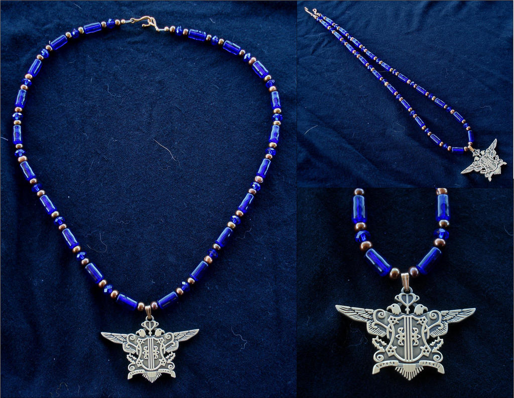 Black Butler Phantomhive Crest Necklace by RebelATS