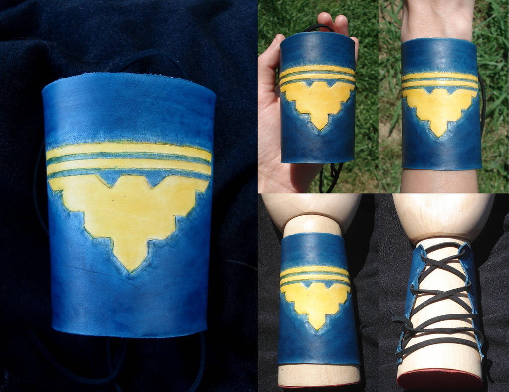 Garrus Vakarian Eagle Leather Cuff by RebelATS