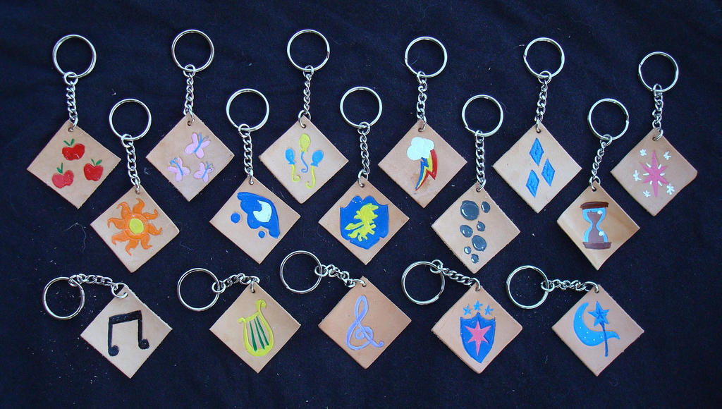 My little pony cutie mark leather keychains by rebelats on - My little pony cutie mark wallpaper ...