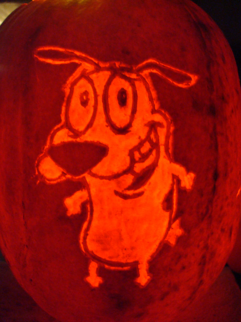 Courage the Cowardly Dog Pumpkin Carving by RebelATS on DeviantArt