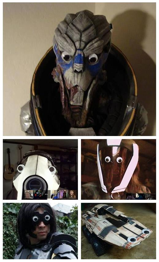 Mass Effect Cosplayers with Googly Eyes by RebelATS