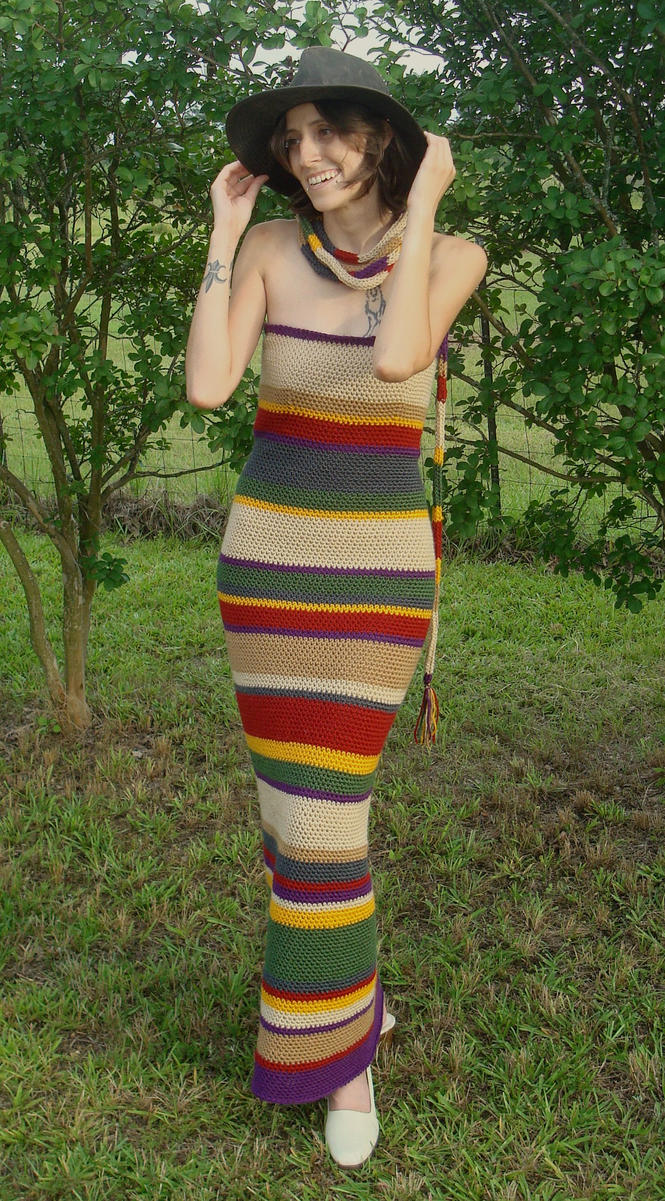 4th Doctor's Scarf Dress by RebelATS