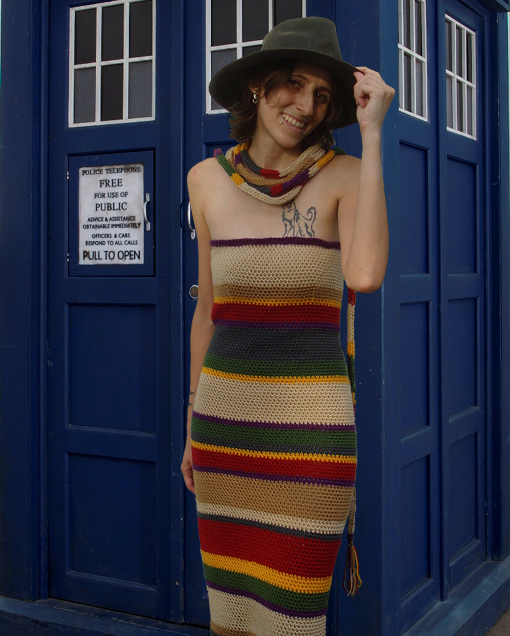 4th Doctor's Scarf Dress - TARDIS by RebelATS
