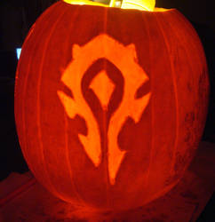 For the Horde Pumpkin by RebelATS