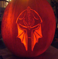 Dragon Age Inquisition Pumpkin by RebelATS