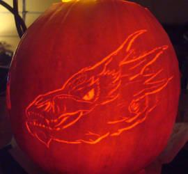 The Hobbit Smaug Pumpkin