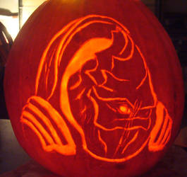 Mass Effect Wrex Pumpkin