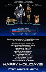 Mass Effectmas Holiday Card by RebelATS