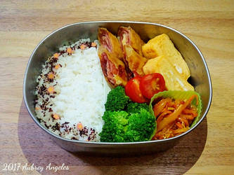Spring Roll Bento by ErisConstance