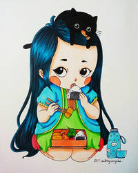 Little Bento Girl by ErisConstance