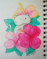 Hibiscus Kitty by ErisConstance