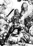 Machete Vs. Predators by Tatong