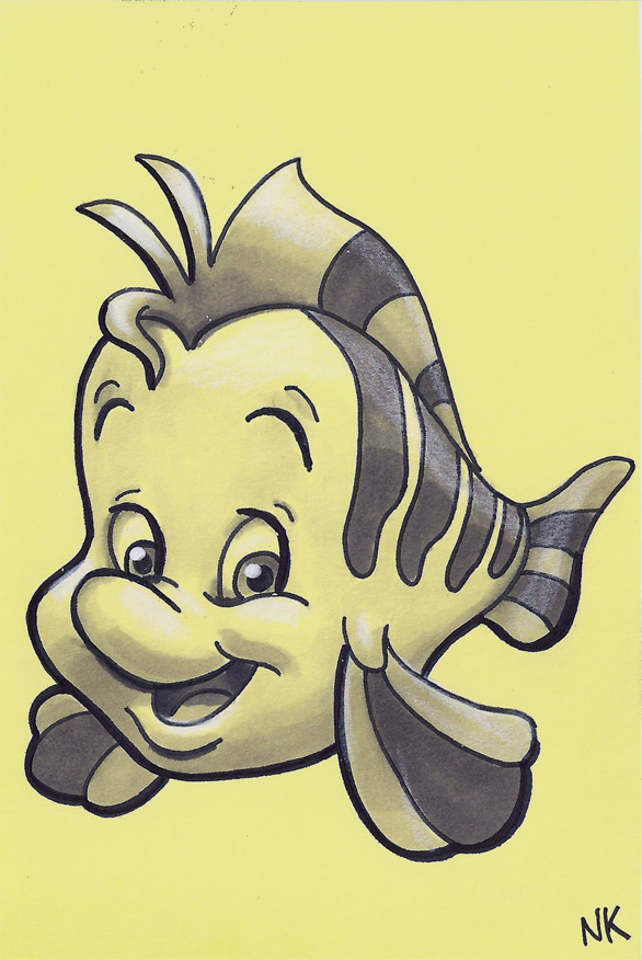 warm up sketch flounder by n8kelly on deviantart
