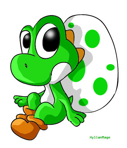 Young Yoshi And Egg By Hylianmage On DeviantArt