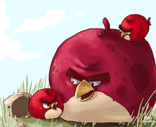 At Home with Angry Birds by hylianmage