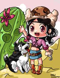 Cowgirl Katy by hylianmage