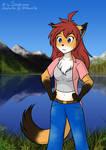 [AT] Sara at the lake