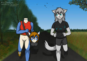[AT] Jogging by sand-runner