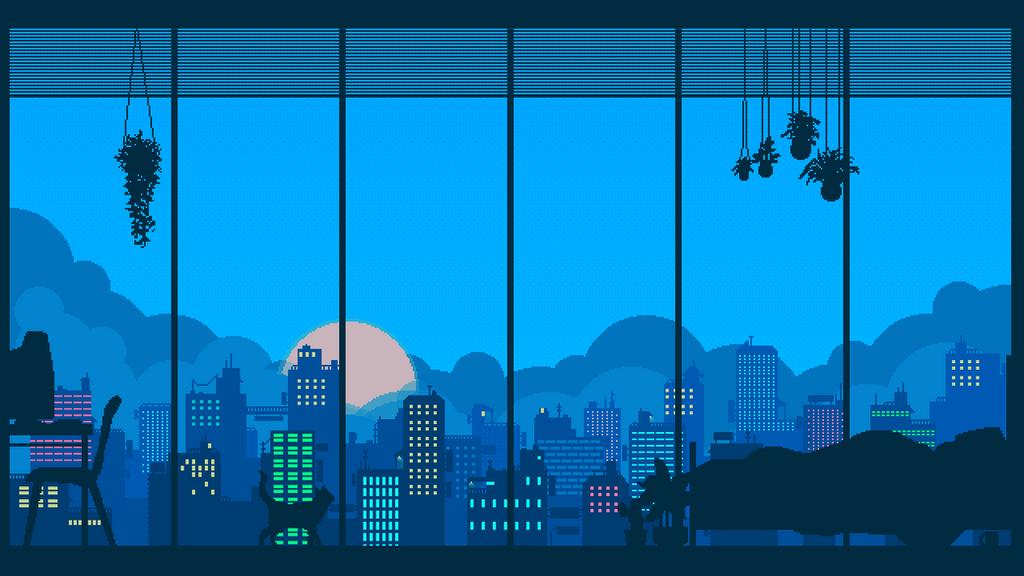 Bedroom Pixel Art Gif