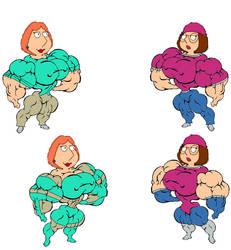 Super lois and meg griffin by darkone300