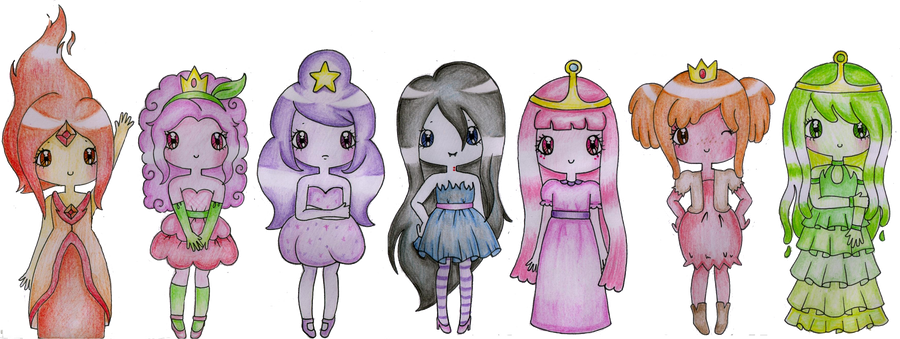 Adventure Time Princesses by Bee-chii on DeviantArt  Adventure Time ...