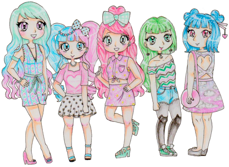 Pastel Girls by Bee-chii