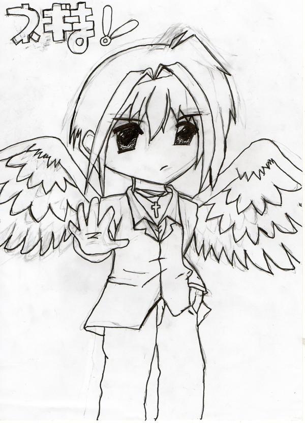 anime boy guardian angel