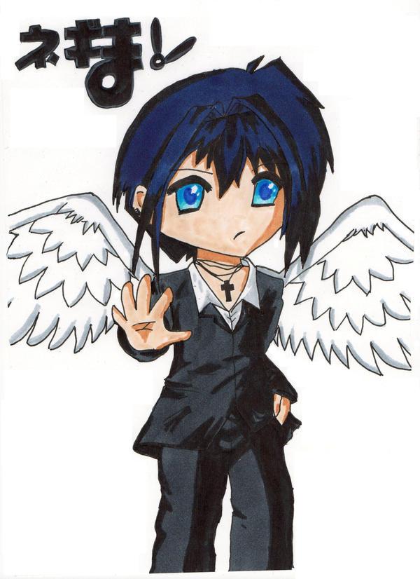 anime angel boy. anime angel oy wallpaper.