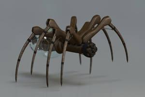 Clockwork Mechanical Spider by brawfx