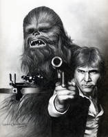 Chewie and Solo by sarahchalmers