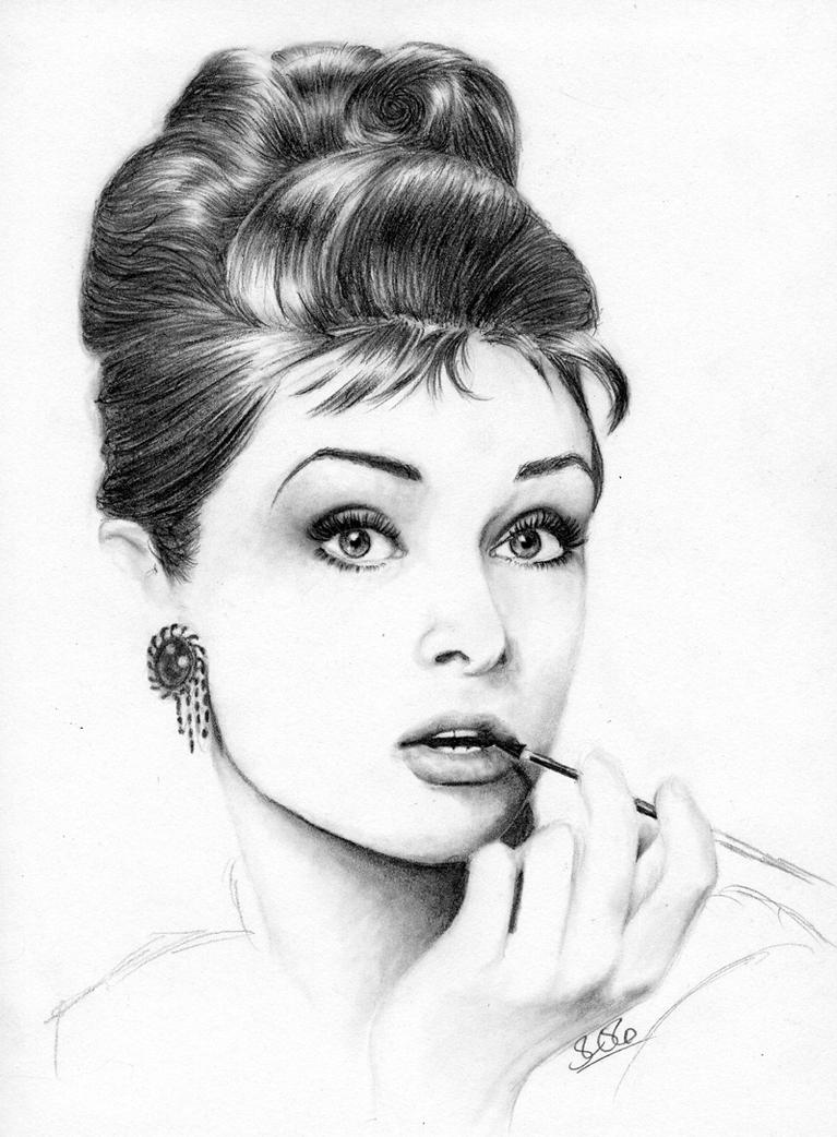 Audrey Hepburn by sarahchalmers