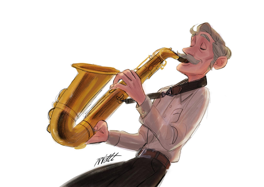Old Musician by miacat7