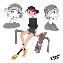 Skate Girl by miacat7