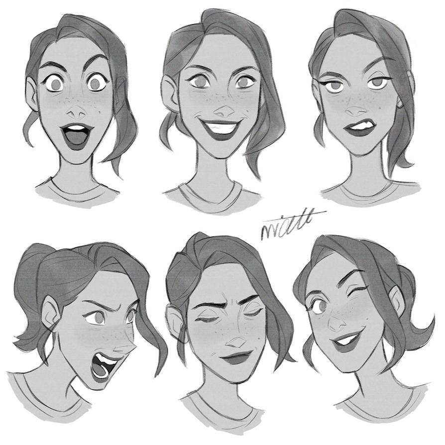 Facial expressions by miacat7