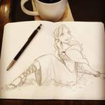 Elf magician Sketch