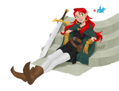 Red Hair Elf