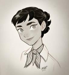 Roman Holiday - Audrey Hepburn Sketch