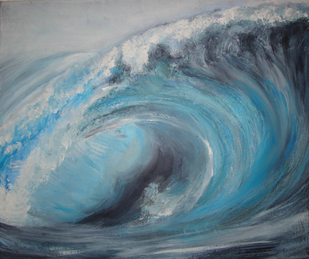 Giant Wave by TheEvelyne