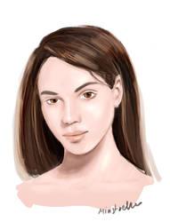 Face Study by Minstrella