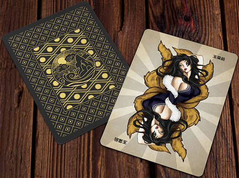 Heroes of Japan Playing Cards - Card Back