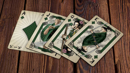 Heroes of Japan Playing Cards - Diamonds