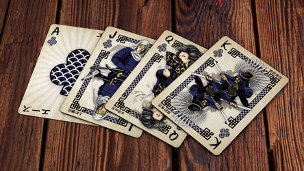 Heroes of Japan Playing Cards - Clubs