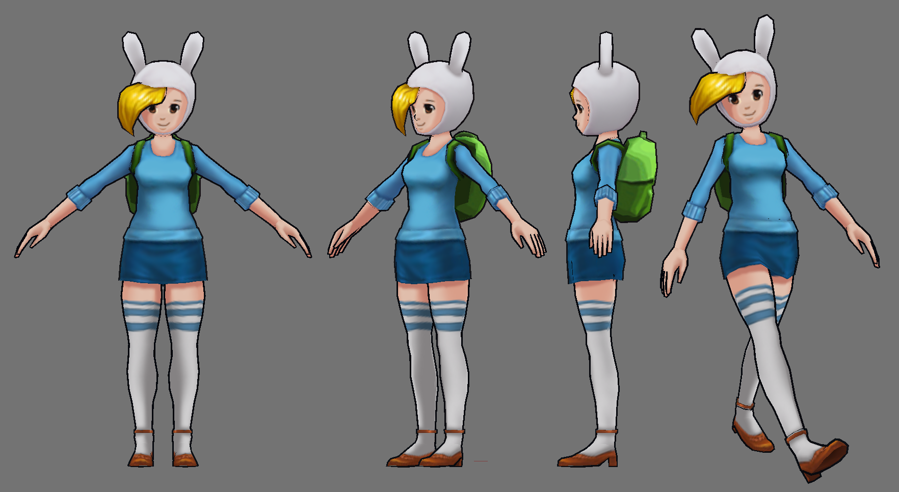 Fionna Model By FusionFallCreations On DeviantArt